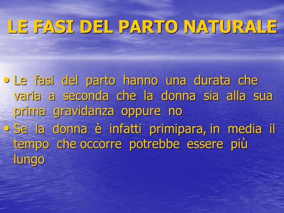 LE FASI DEL PARTO NATURALE