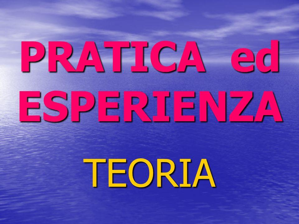 PRATICA ed ESPERIENZA TEORIA