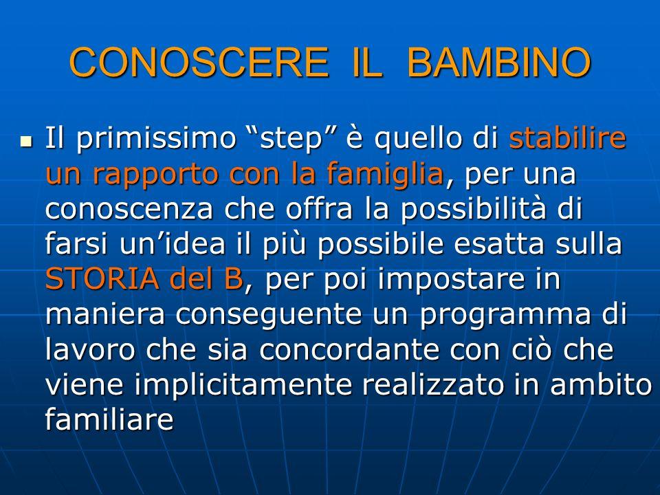 CONOSCERE IL BAMBINO