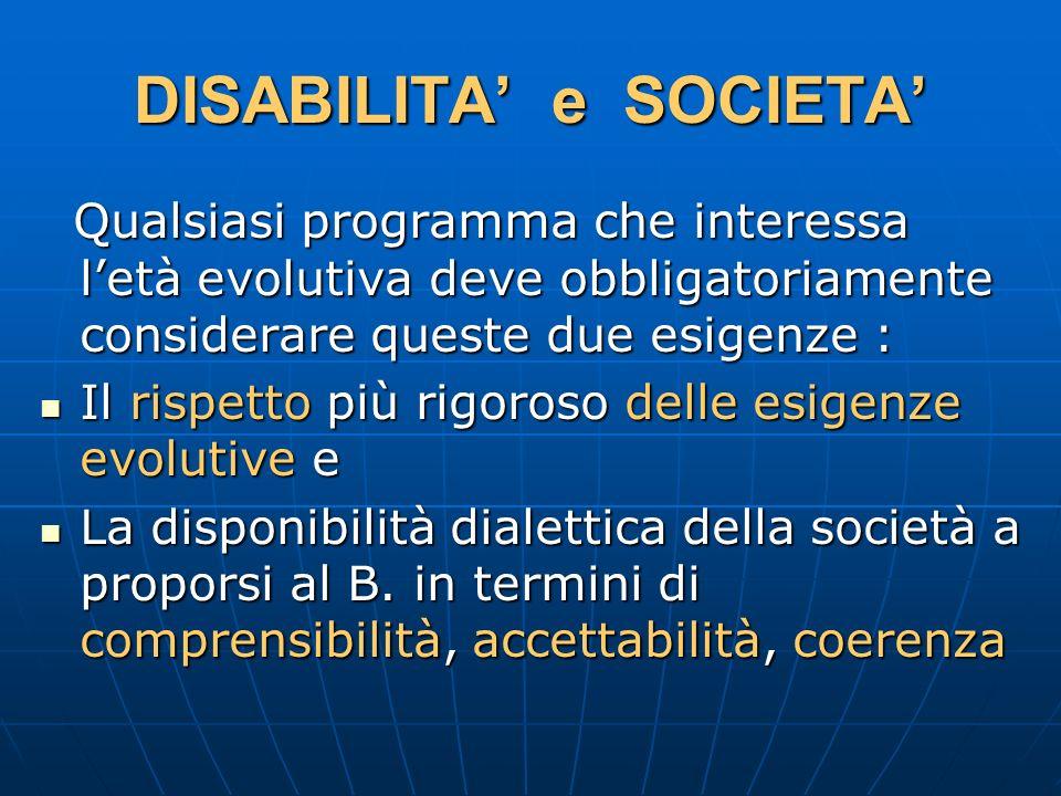 DISABILITA' e SOCIETA'
