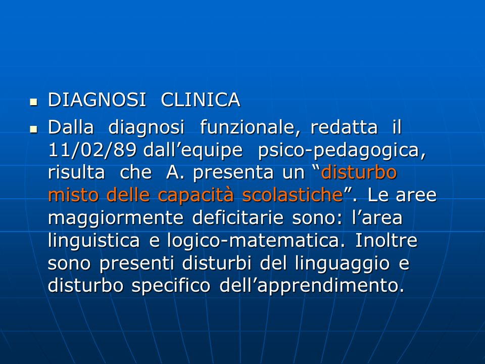 DIAGNOSI CLINICA