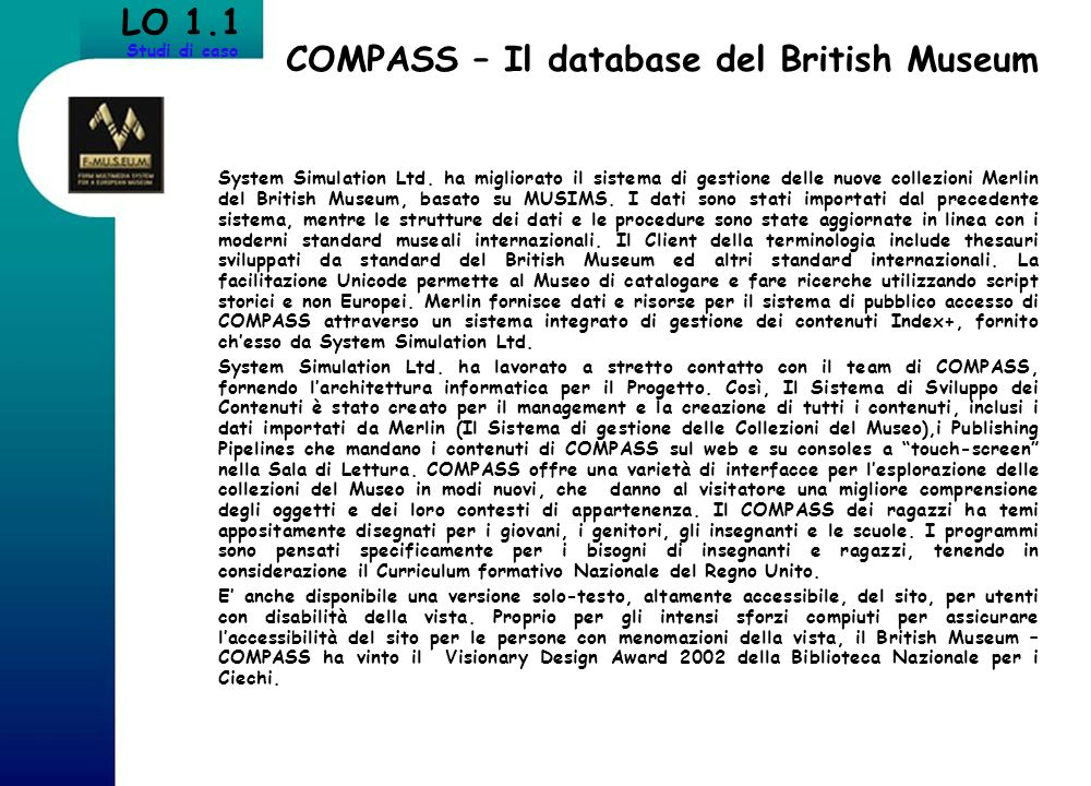 COMPASS – Il database del British Museum