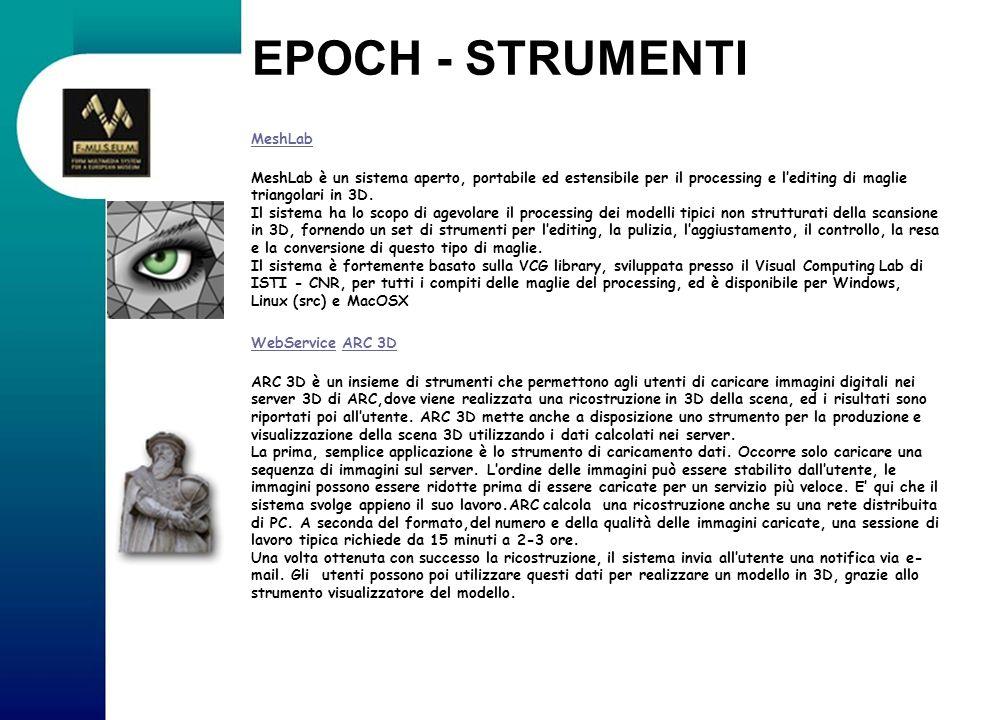 EPOCH - STRUMENTI MeshLab
