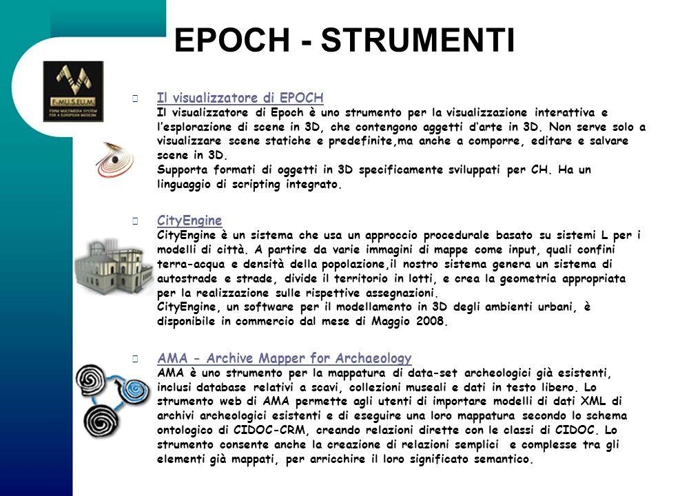 EPOCH - STRUMENTI