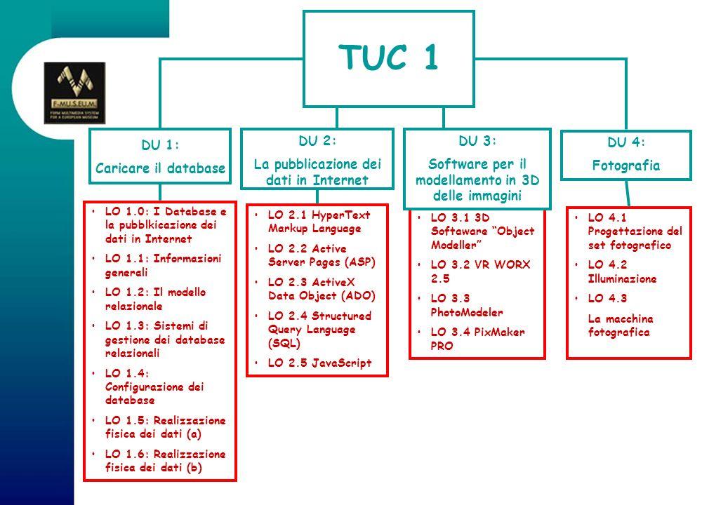 TUC 1 DU 2: La pubblicazione dei dati in Internet DU 3: