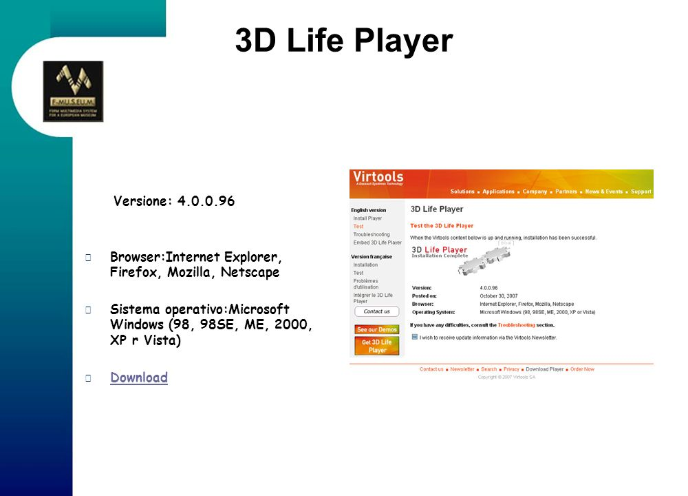 3D Life Player Versione: 4.0.0.96
