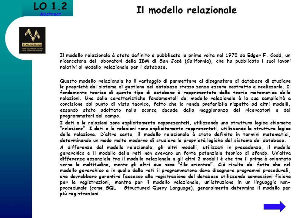 Il modello relazionale