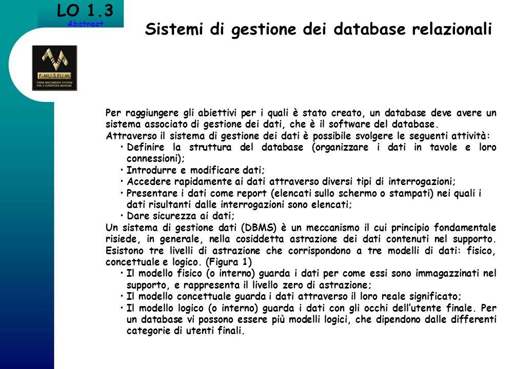 Sistemi di gestione dei database relazionali