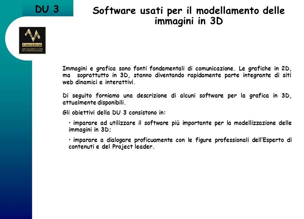 Software usati per il modellamento delle immagini in 3D
