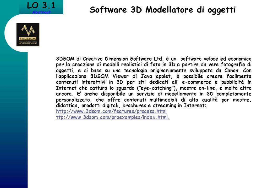 Software 3D Modellatore di oggetti