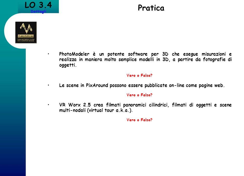 LO 3.4 Dettagli. Pratica.