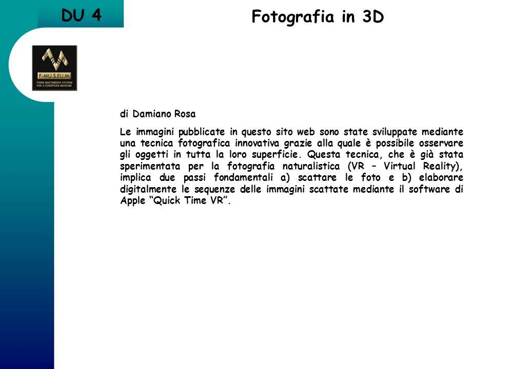 DU 4 Fotografia in 3D di Damiano Rosa