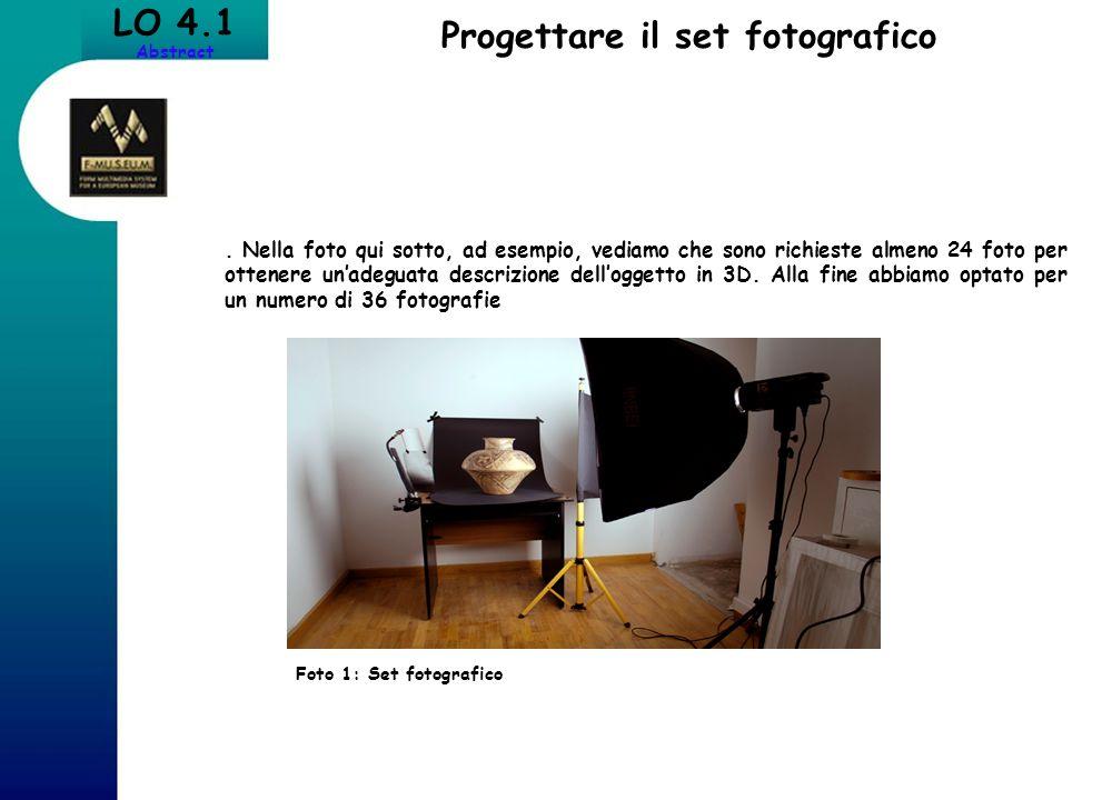 Progettare il set fotografico