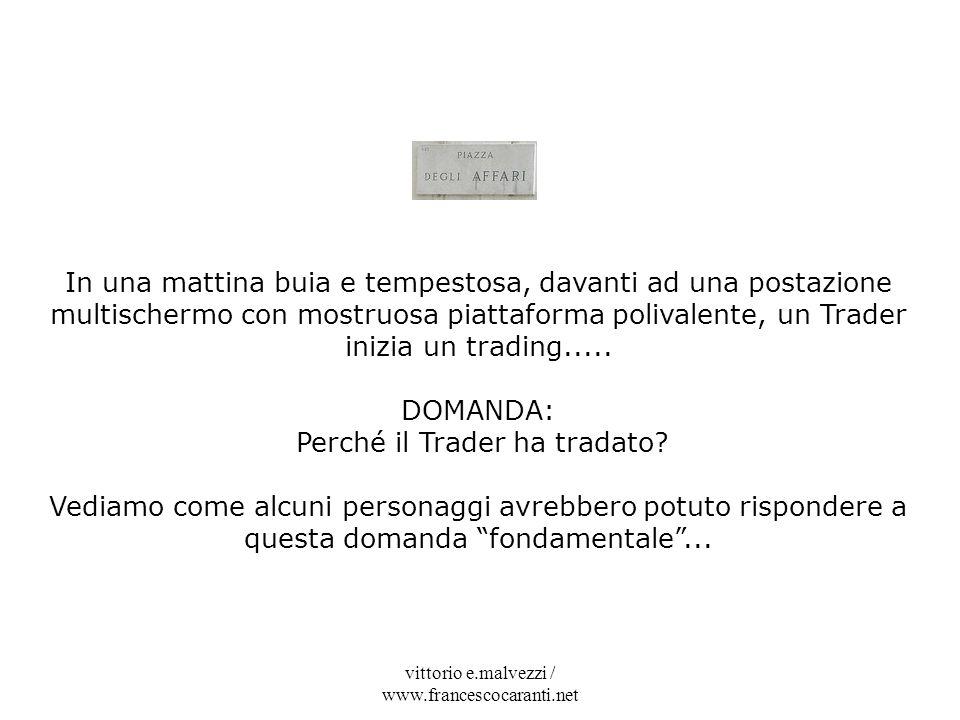Perché il Trader ha tradato