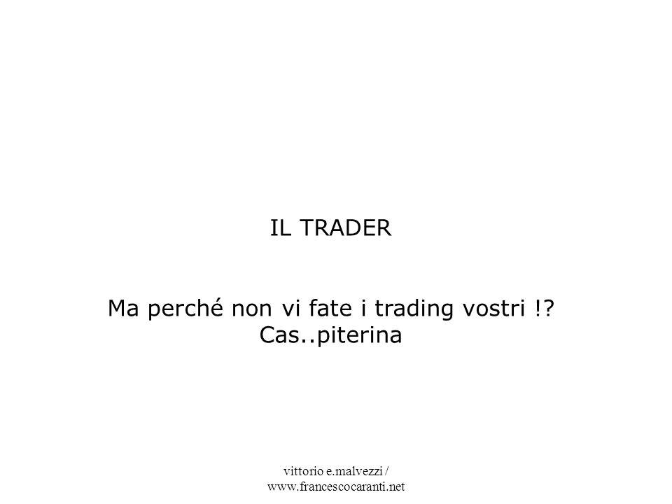 Ma perché non vi fate i trading vostri ! Cas..piterina