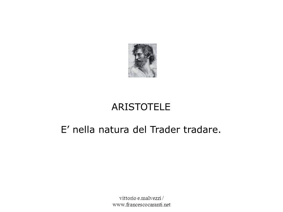 E' nella natura del Trader tradare.