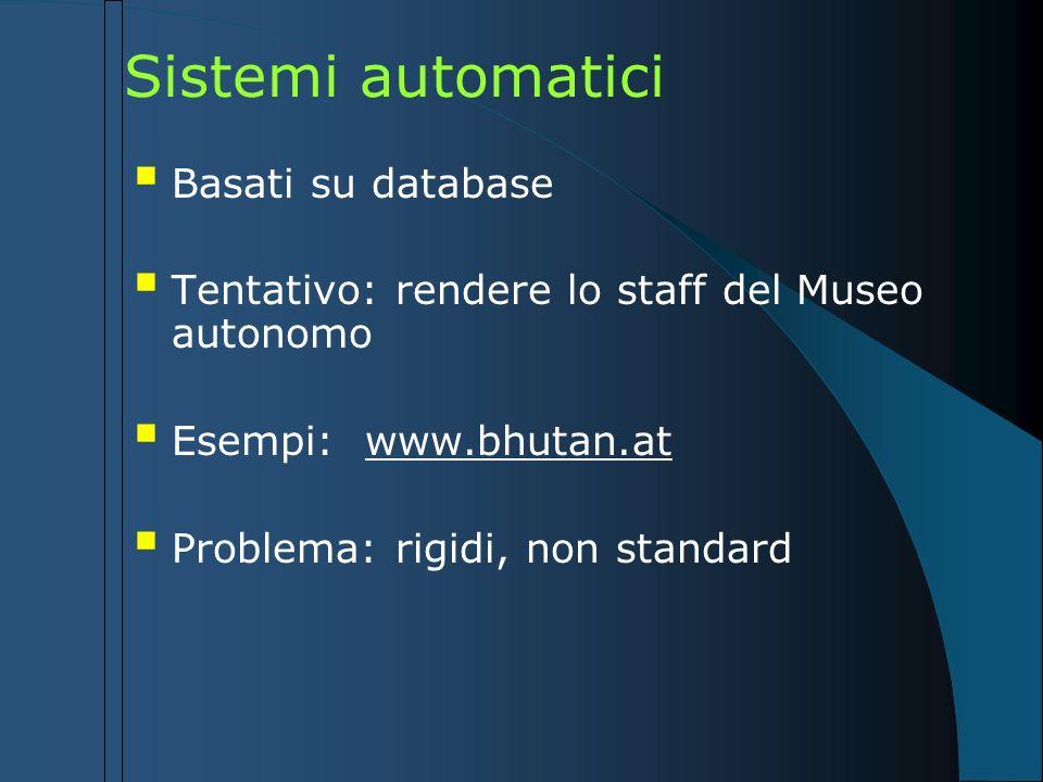 Sistemi automatici Basati su database