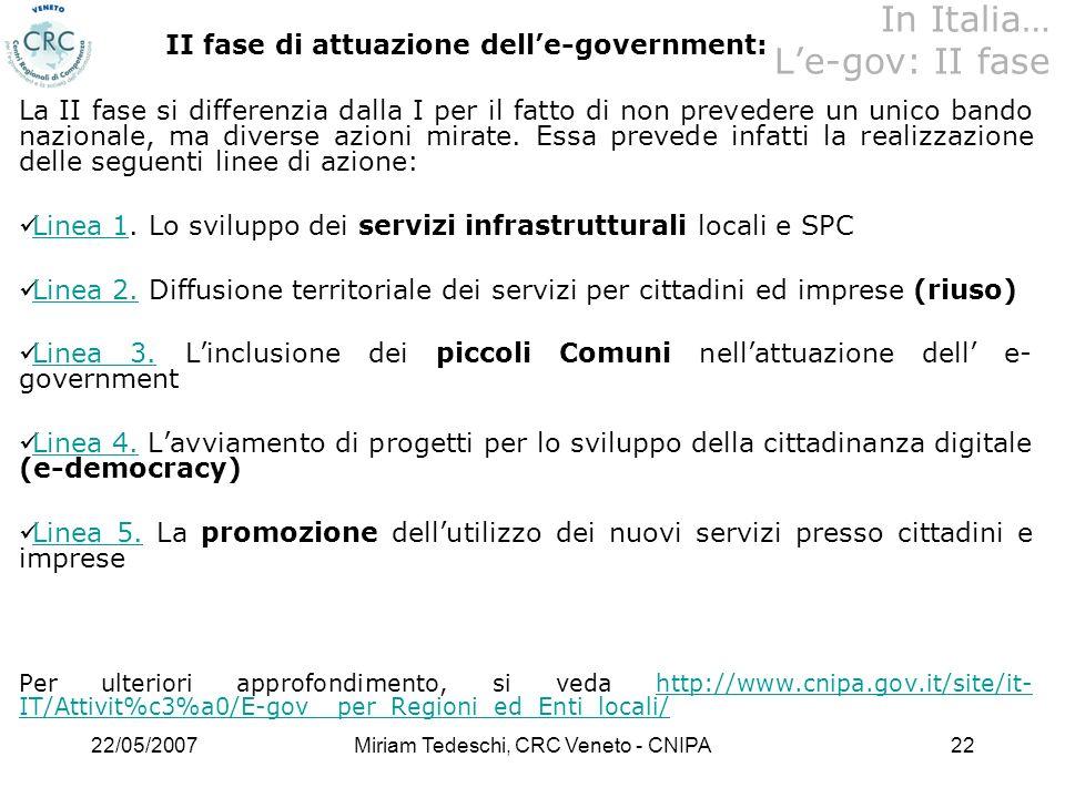 In Italia… L'e-gov: II fase