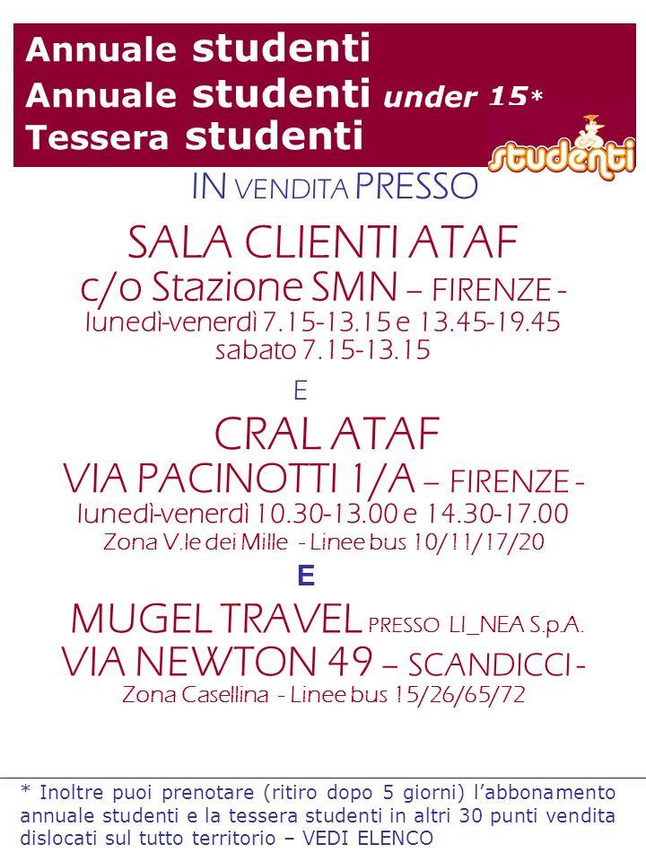 SALA CLIENTI ATAF c/o Stazione SMN – FIRENZE -