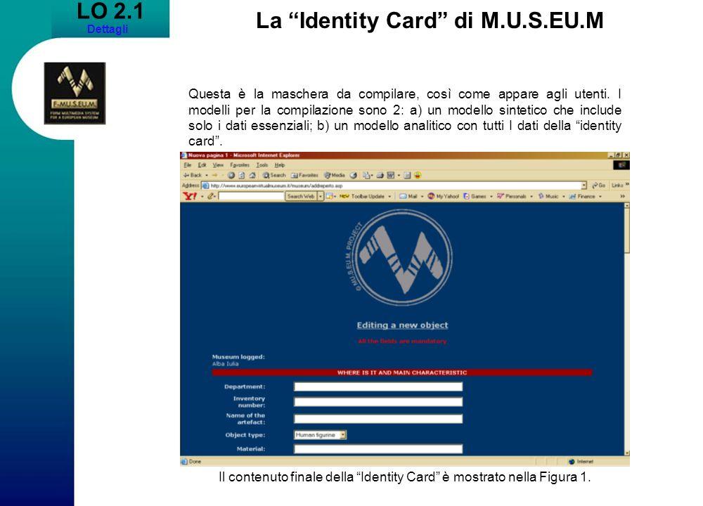 La Identity Card di M.U.S.EU.M
