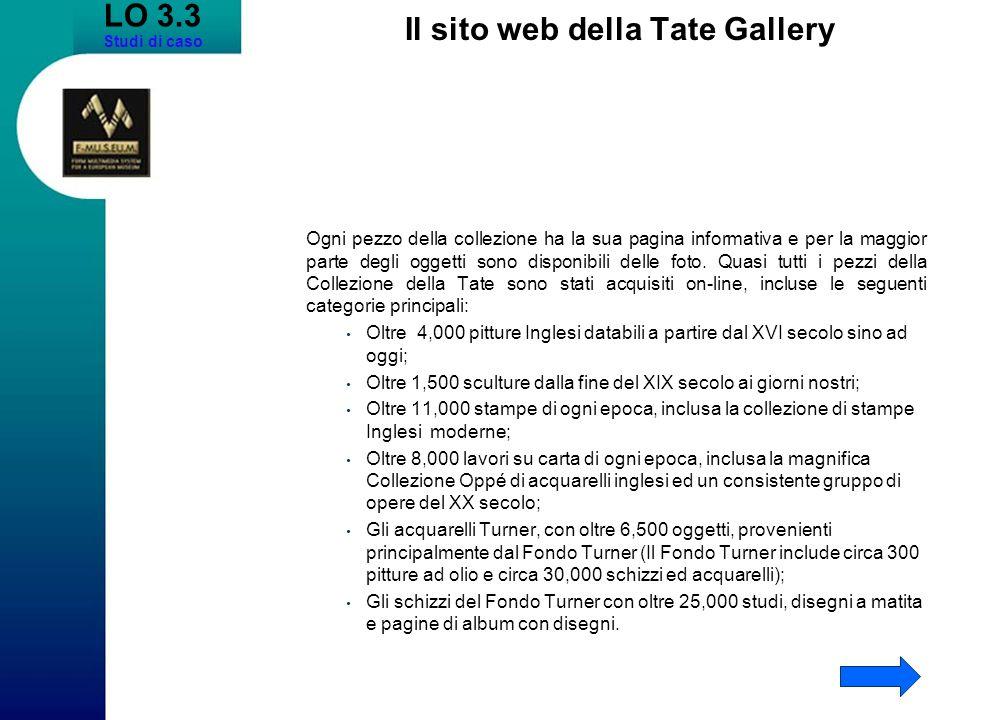 Il sito web della Tate Gallery