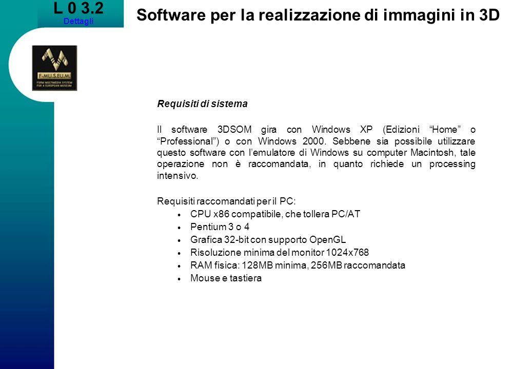 Software per la realizzazione di immagini in 3D