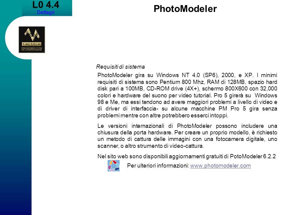 Per ulteriori informazioni: www.photomodeler.com