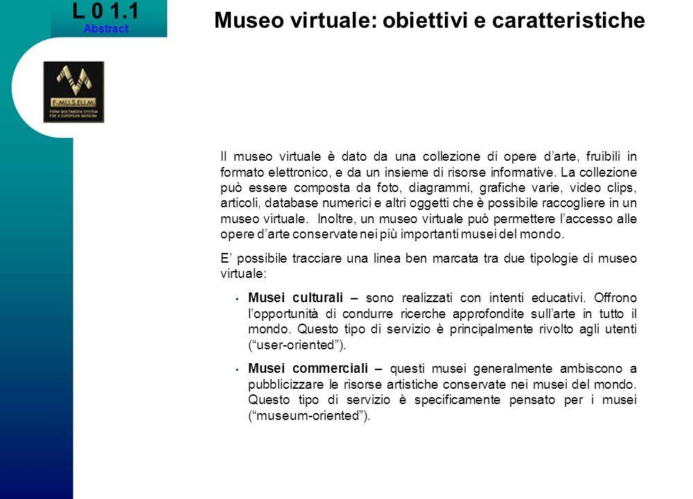 Museo virtuale: obiettivi e caratteristiche