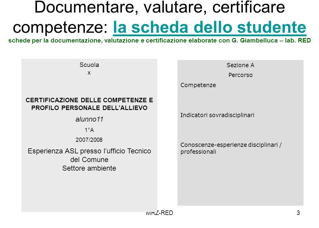 CERTIFICAZIONE DELLE COMPETENZE E PROFILO PERSONALE DELL ALLIEVO