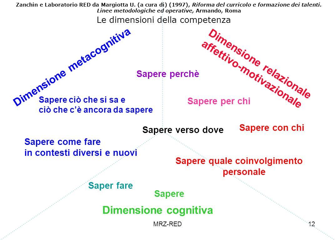Dimensione relazionale affettivo-motivazionale