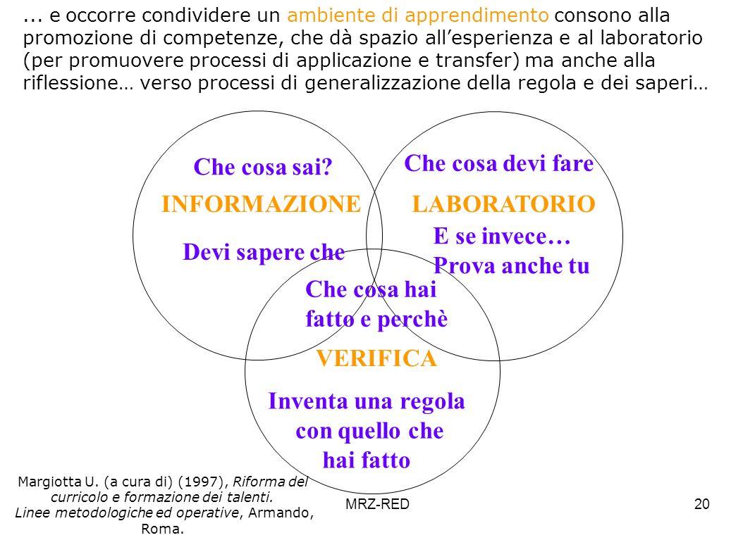 Linee metodologiche ed operative, Armando, Roma.