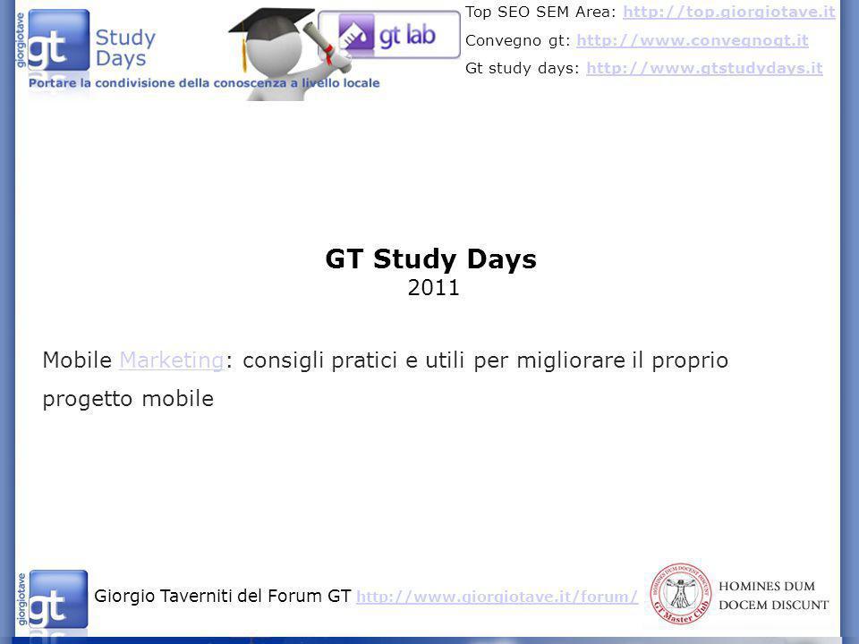 GT Study Days 2011.