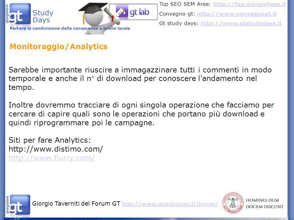 Monitoraggio/Analytics
