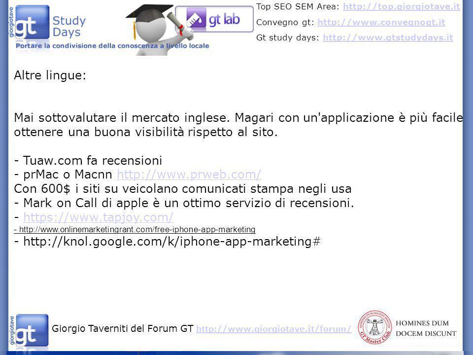 - Tuaw.com fa recensioni - prMac o Macnn http://www.prweb.com/