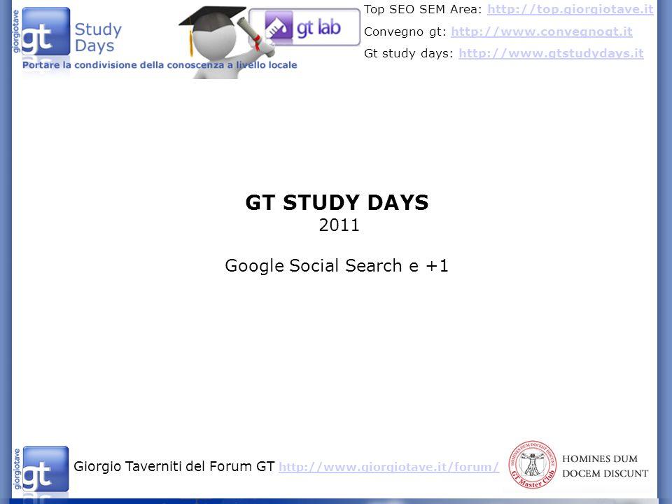 Google Social Search e +1