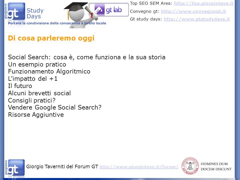 Di cosa parleremo oggiSocial Search: cosa è, come funziona e la sua storia. Un esempio pratico. Funzionamento Algoritmico.