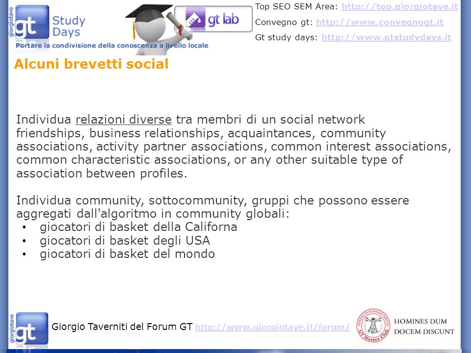 Alcuni brevetti social
