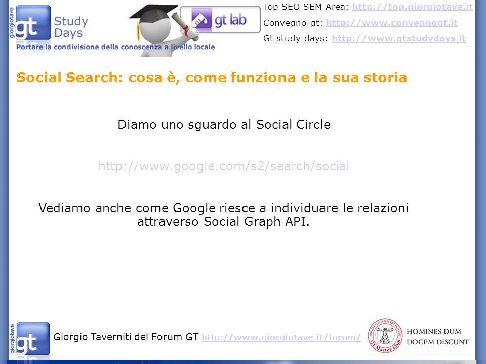 Diamo uno sguardo al Social Circle