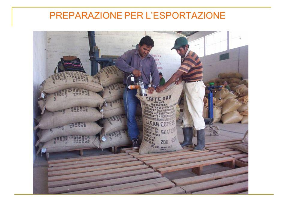PREPARAZIONE PER L'ESPORTAZIONE