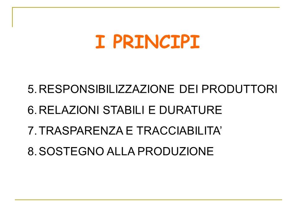 I PRINCIPI RESPONSIBILIZZAZIONE DEI PRODUTTORI