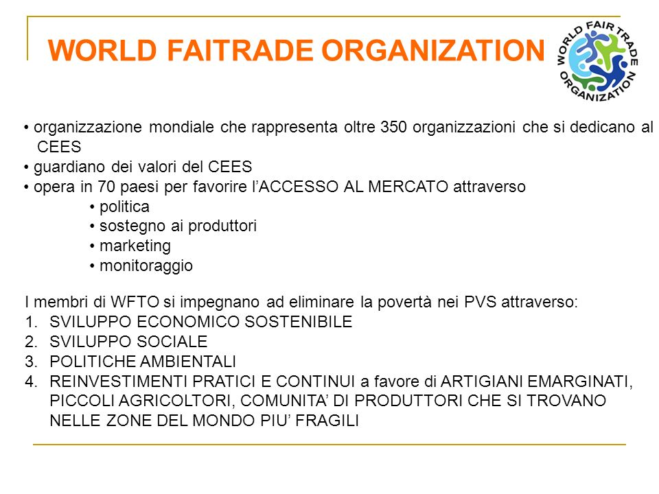 WORLD FAITRADE ORGANIZATION