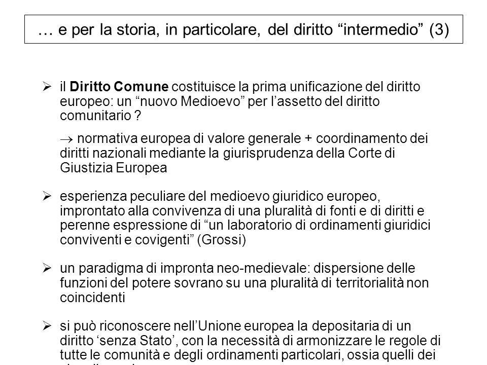 … e per la storia, in particolare, del diritto intermedio (3)