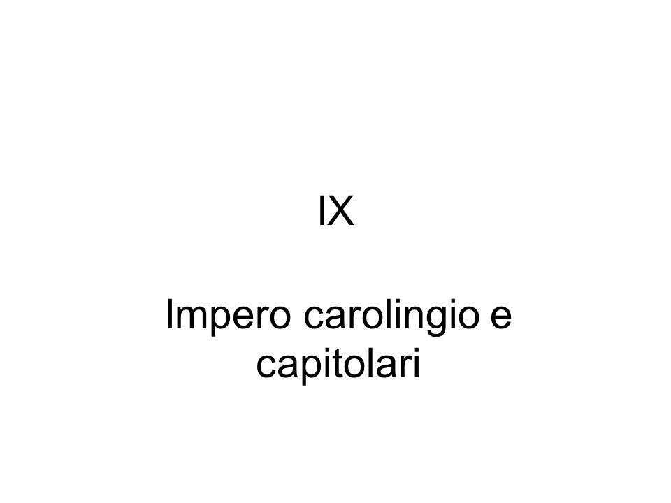 Impero carolingio e capitolari