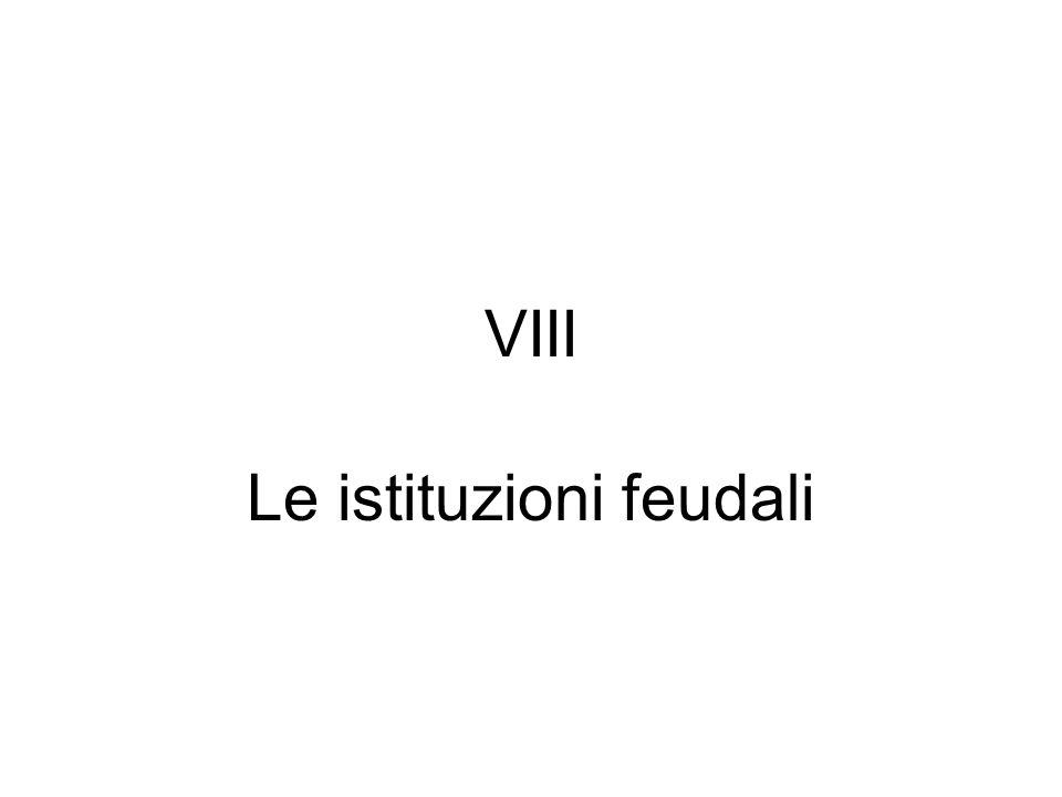 Le istituzioni feudali