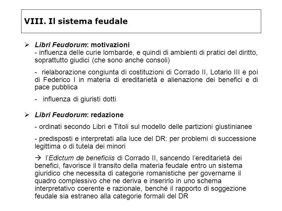 VIII. Il sistema feudale