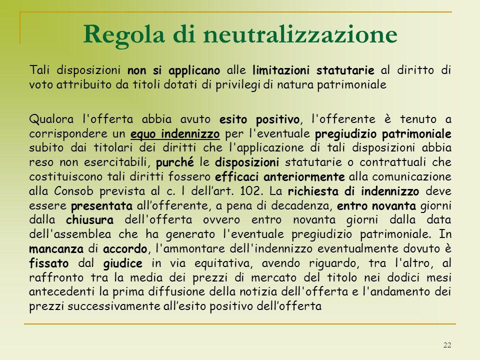 Regola di neutralizzazione