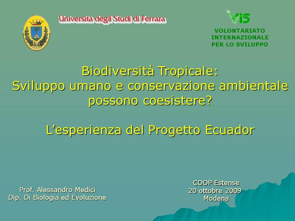Biodiversità Tropicale: Sviluppo umano e conservazione ambientale