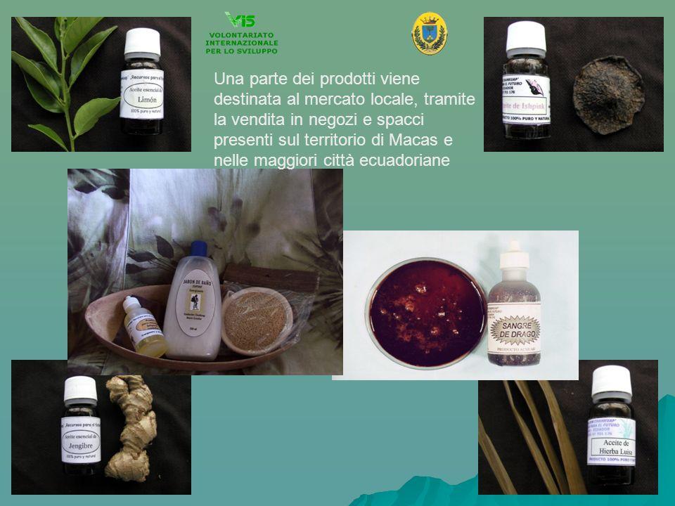 Una parte dei prodotti viene destinata al mercato locale, tramite la vendita in negozi e spacci presenti sul territorio di Macas e nelle maggiori città ecuadoriane