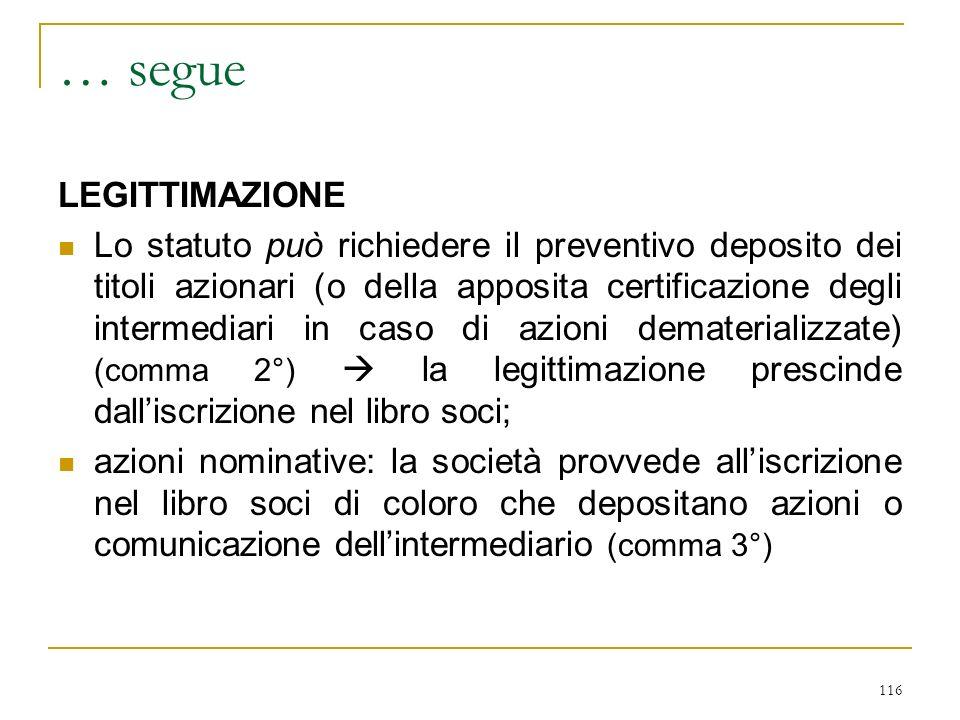 … 2^ convocazione (art. 2369 c. 3°): principio di facilità deliberativa