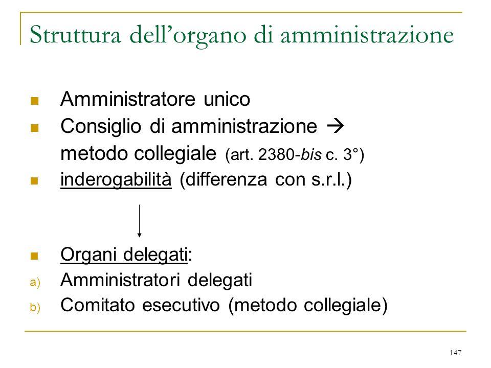 … i compensi: art. 2389 misura del compenso all'atto di nomina o dall'assemblea ordinaria (art. 2389 c. 1°)